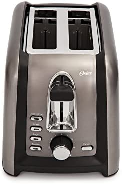 Oster Black Stainless Toaster Salted Salad