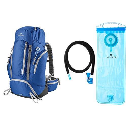 Ferrino Durance, Zaino Da Hiking Ed Escursionismo Unisex, Blu, 30 Litri & H2 Bag, Borsa Di Idratazione Unisex, Blu, 2 Litri