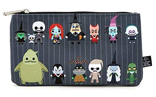 Loungefly Disney Nightmare Before Christmas Chibi Characters Cosmetic Pouch Bag