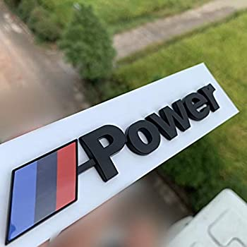 Dodoro M-Power Trunk Tailgate Decal Sticker Fender Side Mark Emblem for BMW M Series M3 M4 M5 M6  Matt Black 1 PCS