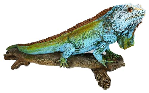 Jaś na pniu drzewa 22 x 11 cm Leguan Salamander Afryka figurka dekoracja GG 5110