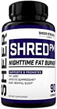 Sheer Shred PM, Nighttime Fat Burner and Sleep Aid Supplement, 90 Stimulant-Free Weight Loss Pills