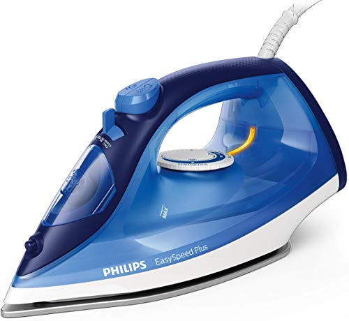 Philips EasySpeed Plus Steam Iron with Ceramic Soleplate, 150g Steam Boost and Built-In Calc-Clean Slider, 2400W, Blue, GC2145/29