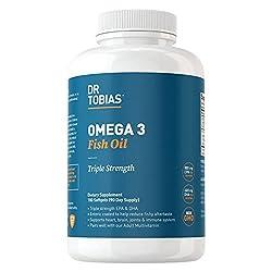 cheap Dobias Omega 3 Fish Oil Triple Strength, 2000 mg, Odorless, GMO Free, NSF Certified (180 Capsules)
