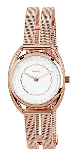 Breil Damen Analog Quarz Uhr mit Edelstahl Armband TW1653