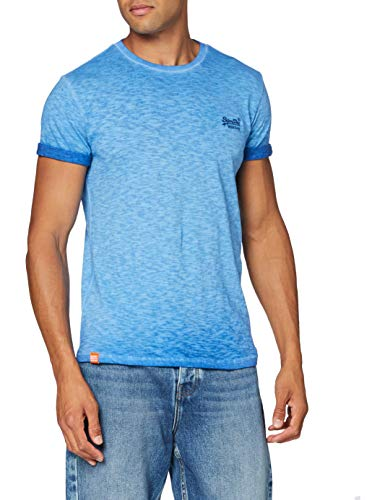 Superdry Herren OL Low Roller Tee T-Shirt, Blau (True Blue 69H), Large