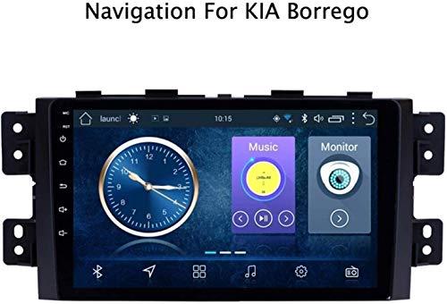Lour Android 8.1 GPS Navigation Radio TV, 9 Zoll Full Touch Screen Bildschirm Autoradio, für KIA Borrego 2008-2016, mit Lenkradkontrolle Bluetooth USB Stereo SD AUX Mirror Link,4G+WiFi,2+.