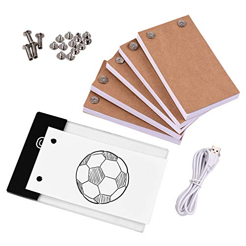 RIGTMAL Flip Book Kit with Light Pad LED Light Box Tablet 300 Sheets Drawing Paper Flipbook with Binding Screws for Drawing Tracing Animation Sketching Cartoon Creation