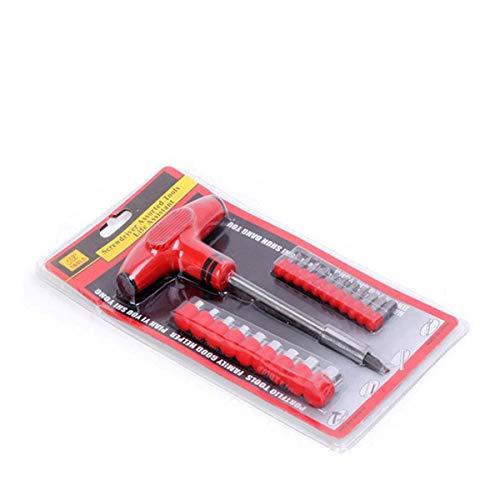 RongDuosi 24PC Huishoudelijke Multi-functie Handmatige Schroevendraaier Combinatie, T-vormige Brood Handvat Schroevendraaier Mouw Set reparatie tools