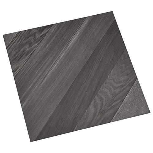 Tidyard 55 STK. PVC-Fliesen Selbstklebend Vinyl-Fliesen Bodenbelag Vinylboden Laminat Dielen Laminatboden Fußboden 5,11 m² Grau Gestreift