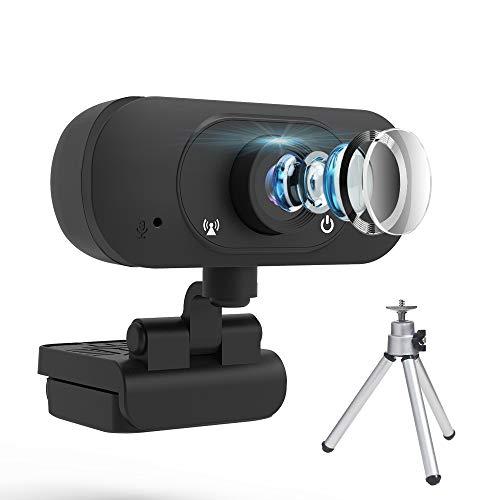 FHD Webcam,Videotelefonie & -aufzeichnung Web-Kamera, 1080P USB Laptop PC-Kamera, Dual-Mikrofon-Webcam, Computerkamera mit manuellem Fokus für Konferenzen, Spiele, Fernlernen, Live-Streaming