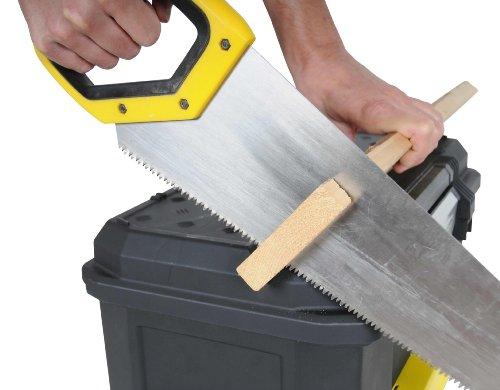 Stanley Werkzeugkiste leer aus Kunststoff 1-70-316 / Werkzeugkoffer mit integrierter Schublade für Kleinteile / Maße: 48.1 x 27.9 x 28.7 cm - 5