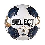 SELECT Ultimate Replica V21 Balón de Balonmano, Niños, Blanco/Azul, 3