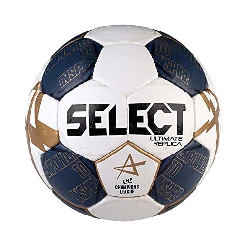 SELECT Ultimate Replica V21 Balón de Balonmano, Niños, Blanco/Azul, 1
