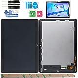 YHX-OU - Pantalla de repuesto para Huawei MediaPad T3 10 AGS-L09 AGS-W09 AGS-L03 LCD pantalla táctil LCD con kit de herramientas completo de reparación (negro)