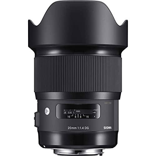 Sigma 20mm f/1.4 DG HSM Art Lens for Leica L Mount Cameras, Black