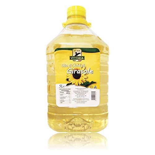 Olio di Semi di Girasole 'Vittoria' - Tanica Latta Pet 5 Litri 5lt 5000ml - 1 Pezzo
