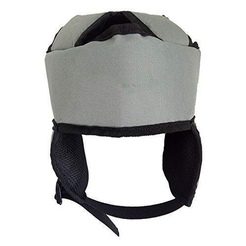 Espesar el sombrero protector para los ancianos, la cabeza y la protección del oído Tipo de la tapa del hogar del casco de seguridad transpirable del casco de protección de la cabeza ajustable del som 🔥