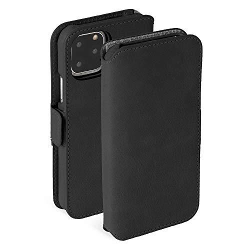 """Krusell Hülle geeignet für Apple iPhone XIR 6.1"""" Leder - Sunne - Vintage Schwarz Handyhülle Case Lederhülle 2in1 Design-Hülle mit Kartenfach"""