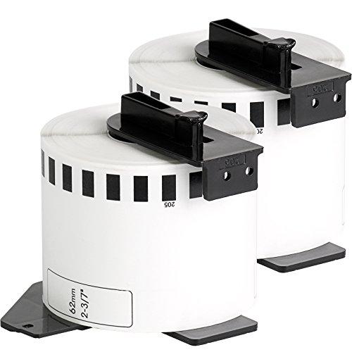2x compatible Etiquetas continuas DK22205