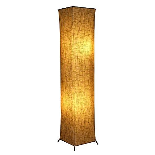 Hot wing moderne Stehleuchte weiche Beleuchtung Home minimalist ische moderne Designleuchte mit Stoffschirm & 2 Glühbirnen für das Wohnzimmer, Schlafzimmer einfache natürliche warme herzliche