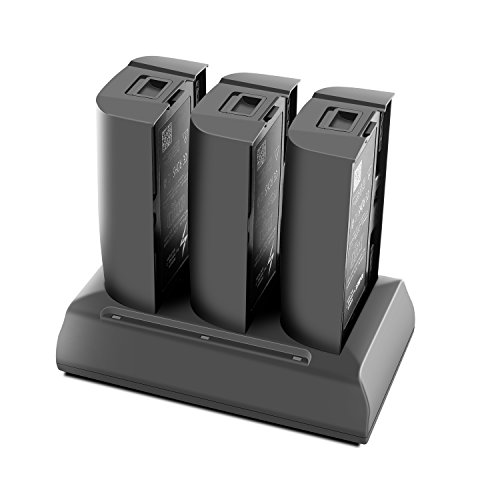 Rantow Hub Caricatore Multiplo per Parrot Bebop 2 / Bebop 2 FPV / Bebop 2 Adventurer - Carica 3 batterie allo Stesso Tempo