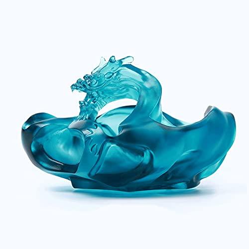 Cenicero para Exterior e Interior Cenicero de cristal creativo Ceniza de cristal fresco para el hogar Sala de estar de la oficina Escritorio Cenicero de 5,7 pulgadas Cenicero de gran capacidad para Ho