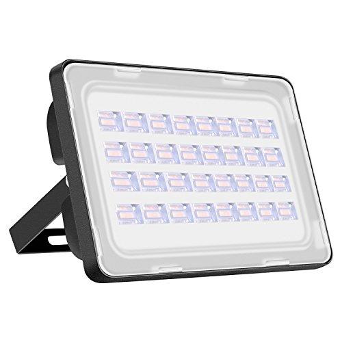 100W LED Strahler, Super Hell 10000LM Flutlicht Warmweiss(2800K-3200K), IP65 Wasserdicht Aussenstrahler für Hof, Garten, Garage