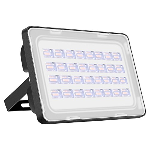 Viugreum Lampada LED Esterni 100W Impermeabile di VI Generazione Basso Consumo Lampada Luce Potente Super Luminosa Faretto da Giardino Garage Bianco Caldo