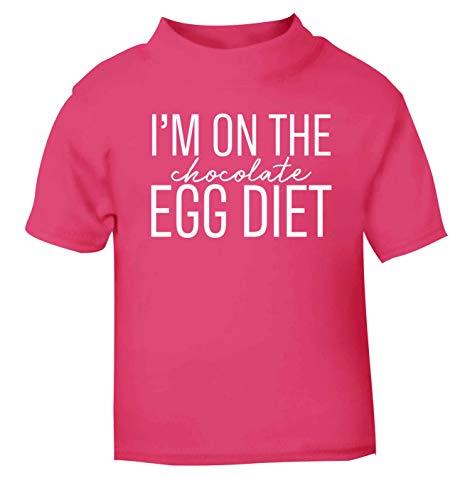 Flox Creative T-Shirt pour bébé I'm on The Chocolate Egg Diet - Rose - 1-2 Ans