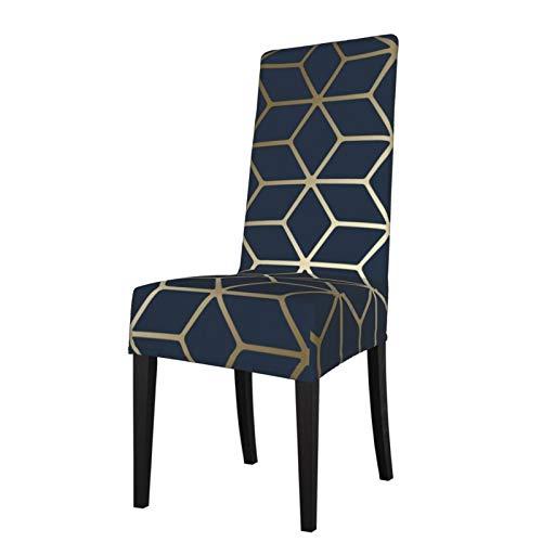 Uliykon Funda elástica para silla de comedor, color azul marino, elastano, elástica, extraíble, lavable, para comedor, hogar, cocina, hotel, ceremonia, fiesta