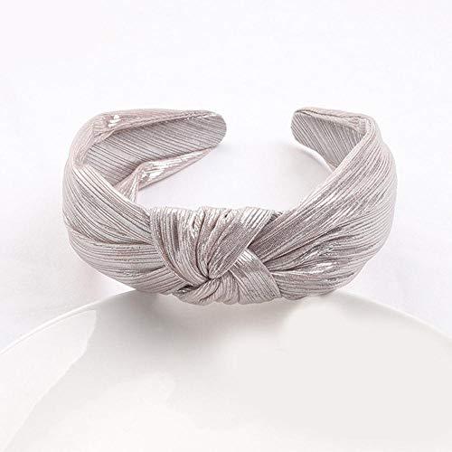 SJYM Stirnbänder Gold Silber geknotete Haarbänder Glitter Stirnband Einfarbig Leder Haarbügel Frauen Haarschmuck, Mint