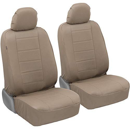 UltraLuxe Faux Leather Car Seat Covers, Front Seats Only – Front Seat Cover...