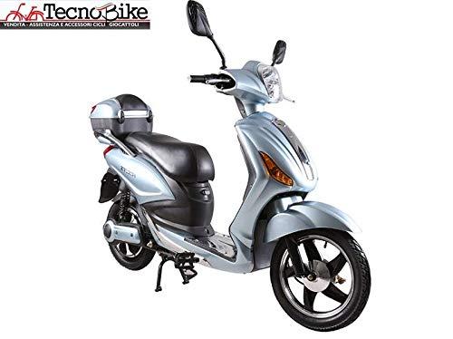 Tecnobike Shop Scooter Bicicletta Elettrica a Pedalata Assistita Z-Tech ZT-09-A 250w 12Ah Batteria al Litio (Azzurro - Silver)