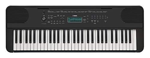 Yamaha Digital Keyboard PSR-E360B Tastiera Digitale per Principianti, con 61 Tasti Dinamici Sensibili al Tocco, Design Classico Adatto a Qualsiasi Ambiente, Nero
