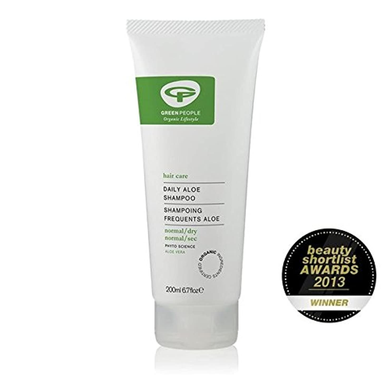 オリエンタル豊富喉頭Green People Organic Daily Aloe Vera Shampoo 200ml (Pack of 6) - 緑の人々の有機毎日アロエベラシャンプー200ミリリットル x6 [並行輸入品]