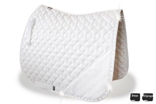 AIKO Tapis de Selle - Brilliance - blanc, de luxe, Full Dressage