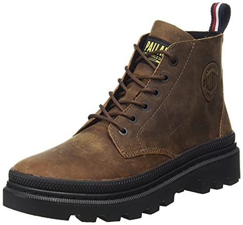PALLADIUM Men's Hi-Top Baskets Sneaker, Beeswax Brown, US-0 / Asia Size s