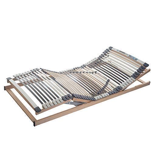 RAVENSBERGER Lattenrost Klassik (Medimed) de Luxe Elektrorahmen 44-Leisten 7-Zonen-BUCHE-Lattenrahmen | Elektrisch | Made IN Germany | Blauer Engel - Zertifiziert | 100 x 200 cm | Funk-Fernbedienung