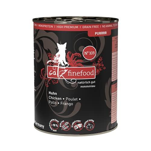 Catz finefood Katzenfutter Purrrr 103 Huhn, 6er Pack (6 x 400 g)