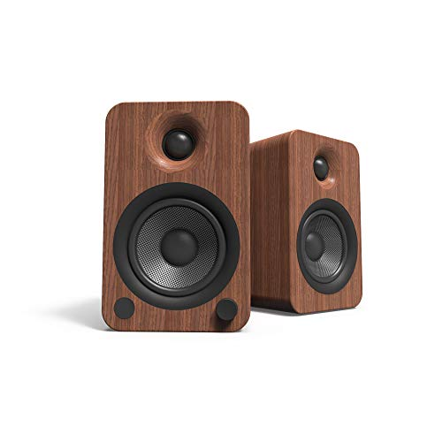 Kanto YU4 140W Powered Bookshelf Speakers with Bluetooth and Built-in Phono...