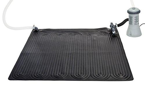 Marimex Intex 28685 Tapis Solaire de Piscine Souple, Fin, écologique, Noir, 120x 0,5x 120cm