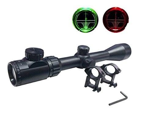 Goetland 3-9x40 EG Zielfernrohr Gewehrzielfernrohre Rot & Grün Punkt mit Halterung für Taktische Jagd