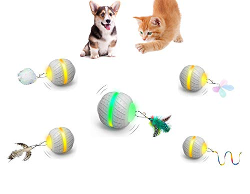 YVE LIFE Robotic Interactive Cat/Dog Toys for Indoor Cats/Small Dogs,Automatic Moving Cat/Puppy Toys with Large Capacity Battery,Moving Ball/Activaty Toys for Kitten/Cats/Small Dogs