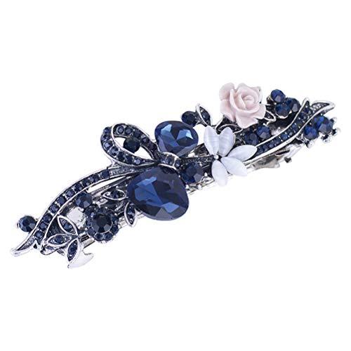 Lurrose Pinzas para el cabello de cristal de primavera, pasadores de pelo florales, mentales y vintage para mujeres niñas