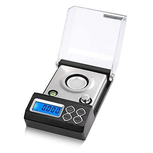 Balanza digital de miligramos, Baugger- Alta precisión profesional 30 g / 0.001 g Mini balanza electrónica en polvo Escala Peso digital