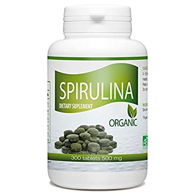 Organic Spirulina - 500 mg per tablet - 300 Tablets from GPH