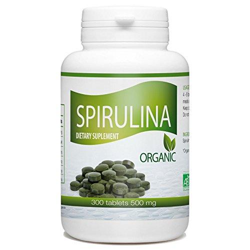 Organic Spirulina- 500 mg per Tablet - 300 Tablets