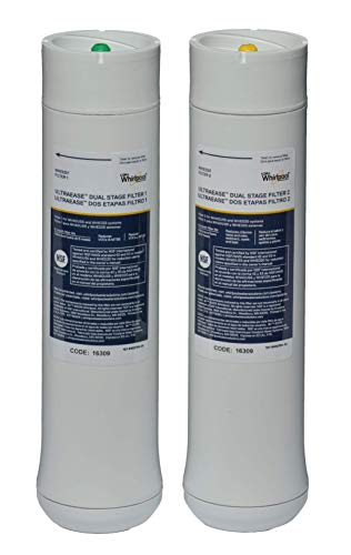 Whirlpool WHEEDF Dual Stage Replacement Pre/Post Water Filters | Fits WHADUS5 & WHED20 Filtration Systems | 1 Set, Pack of 2, Grey
