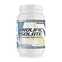 G6 Sports Nutrition Prolific Isolate Whey Protein powder contains 25 grams of whey protein of per serving to help strength muscles, combat fat storage, increase muscle mass, & aid in muscle recovery. Prolific Isolate Whey Protein is an all-natural an...